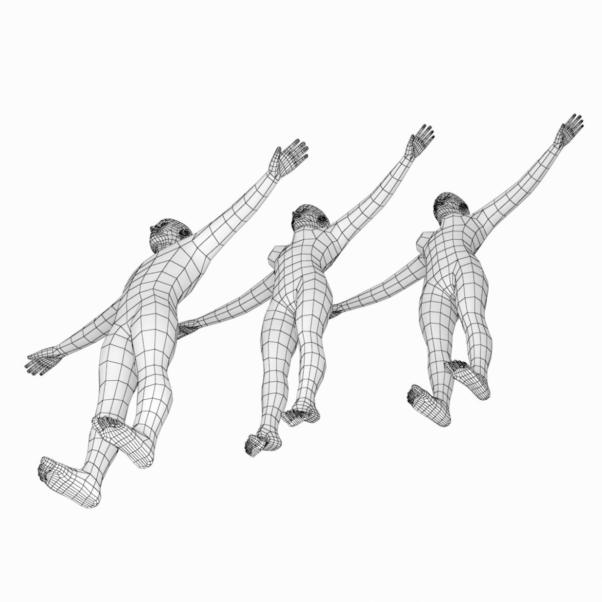 male and female base mesh in t-pose 3d model png stl obj ma mb max fbx dxf dwg dae c4d 3ds txt 305172