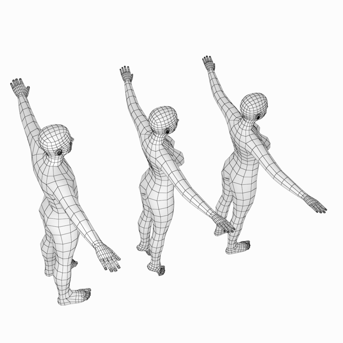 male and female base mesh in t-pose 3d model png stl obj ma mb max fbx dxf dwg dae c4d 3ds txt 305174