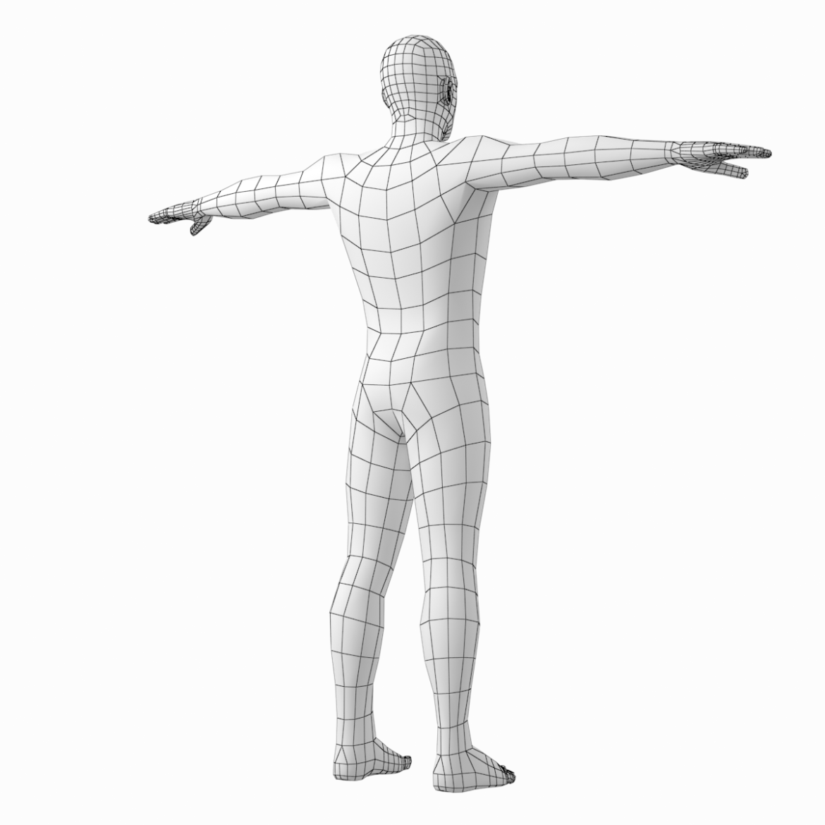 male and female base mesh in t-pose 3d model png stl obj ma mb max fbx dxf dwg dae c4d 3ds txt 305180