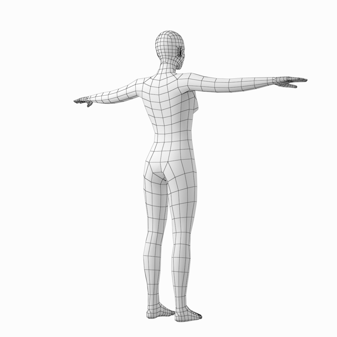 male and female base mesh in t-pose 3d model png stl obj ma mb max fbx dxf dwg dae c4d 3ds txt 305182