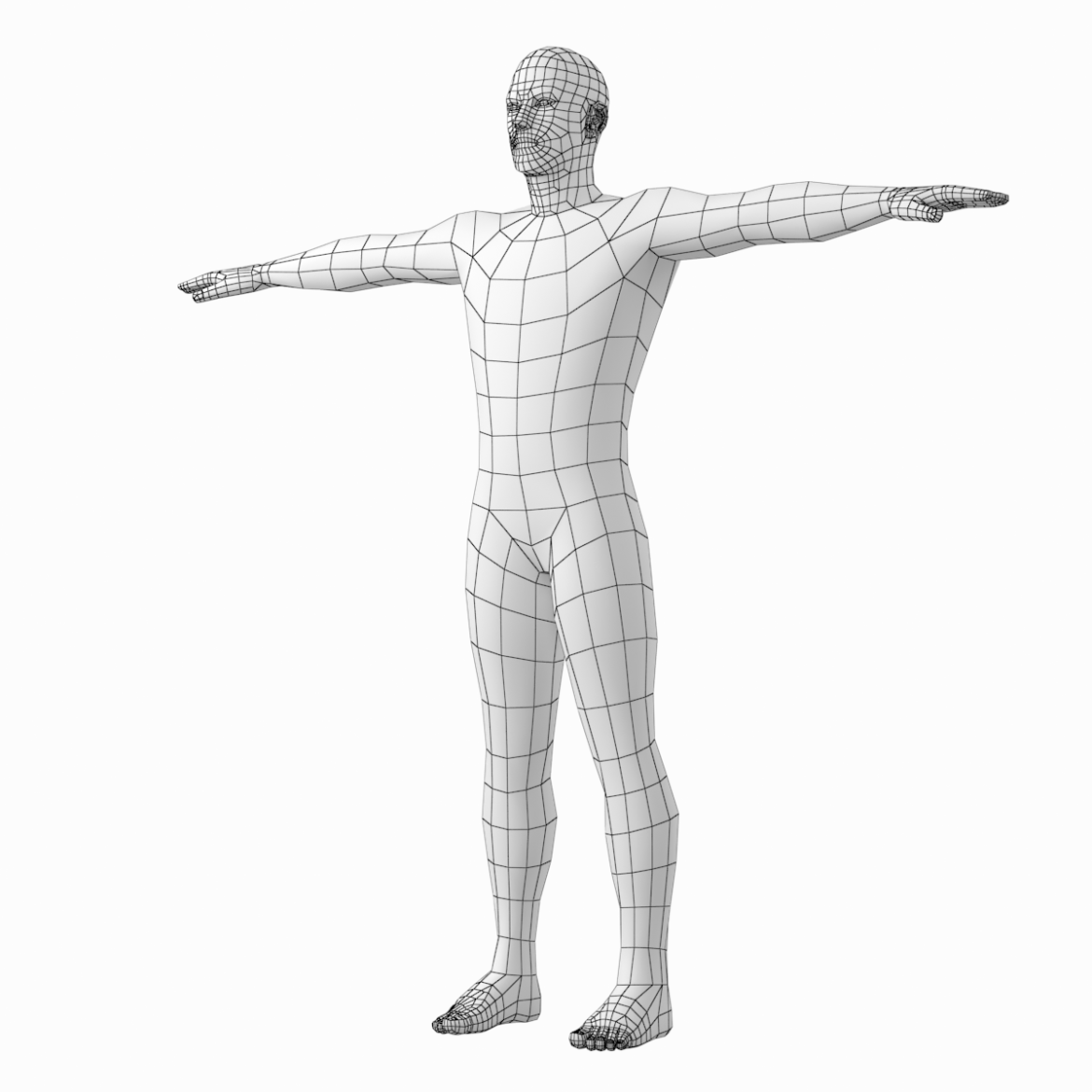 male and female base mesh in t-pose 3d model png stl obj ma mb max fbx dxf dwg dae c4d 3ds txt 305185