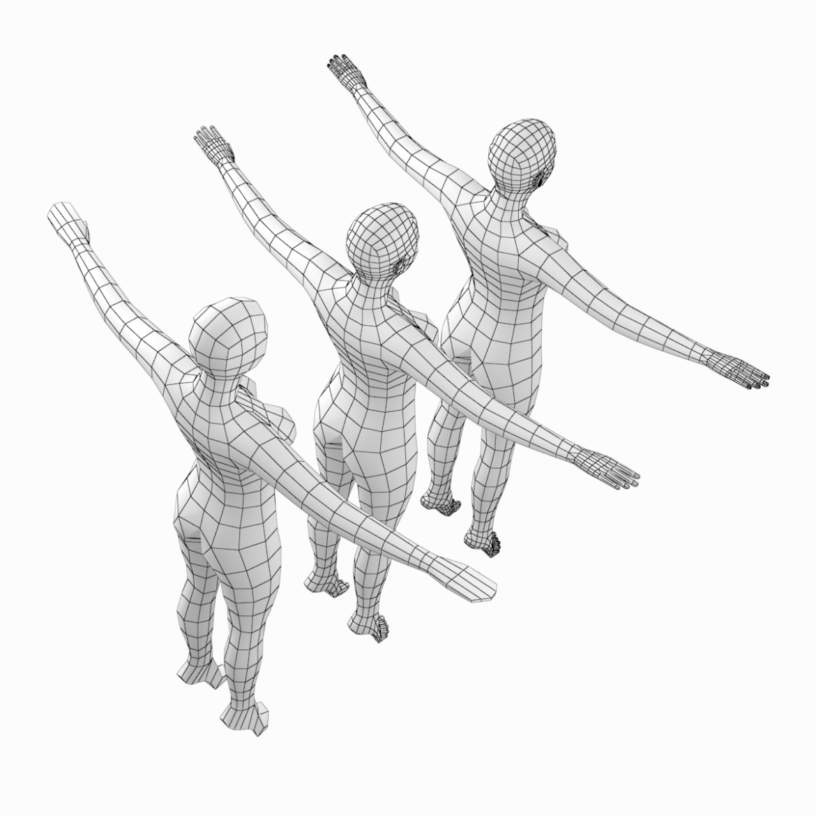 female body on toes base mesh in t-pose 3d model txt 3ds c4d dae dwg dxf fbx max ma mb obj stl png 305202