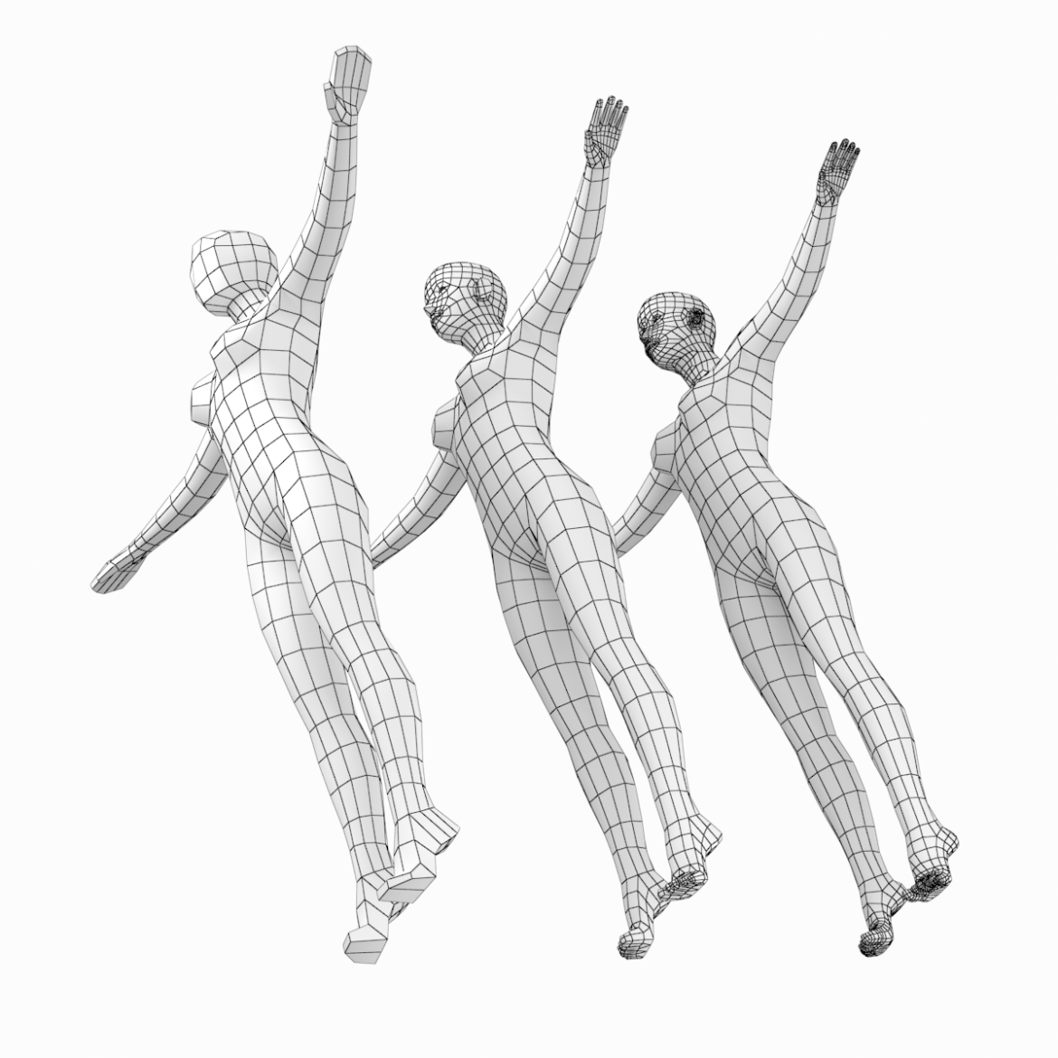 female body on toes base mesh in t-pose 3d model txt 3ds c4d dae dwg dxf fbx max ma mb obj stl png 305203