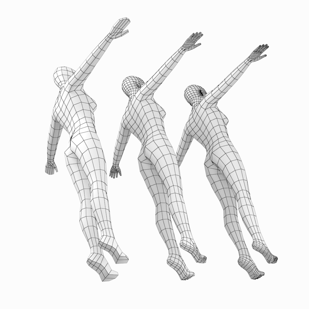 female body on toes base mesh in t-pose 3d model txt 3ds c4d dae dwg dxf fbx max ma mb obj stl png 305204