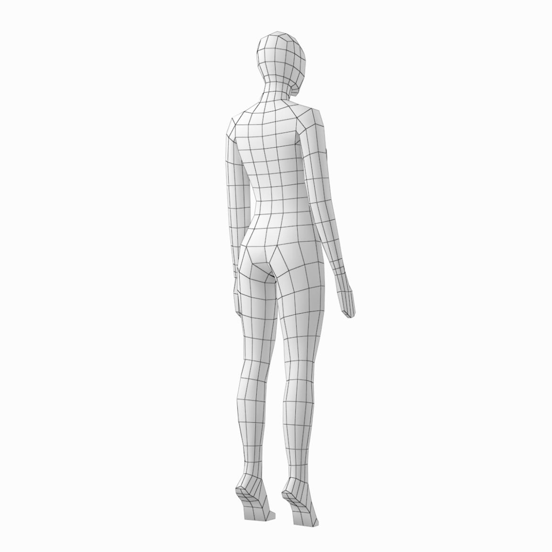 female base mesh in 3 modeling poses 3d model txt 3ds c4d dae dwg dxf fbx max ma mb obj stl png 305313