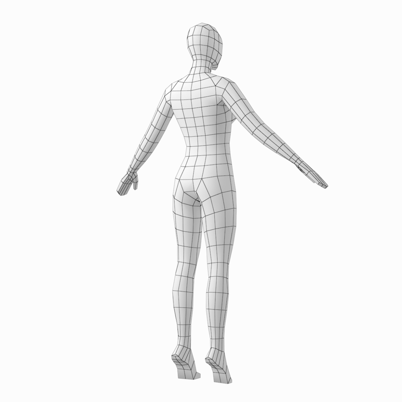 female base mesh in 3 modeling poses 3d model txt 3ds c4d dae dwg dxf fbx max ma mb obj stl png 305314