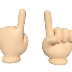 ręka z kreskówki - znak kierunku 3d model obj fbx blend 305447