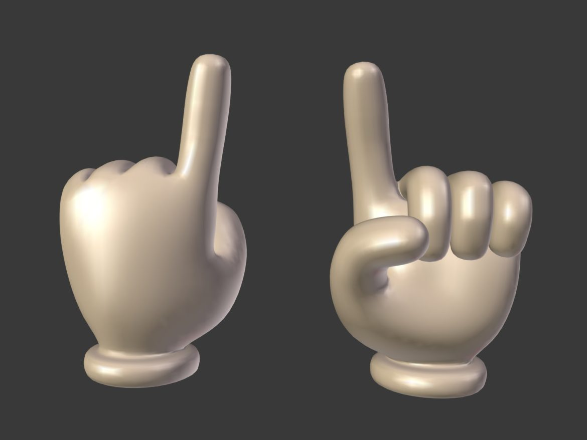 cartoon hand – direction sign 3d model obj fbx blend 305448