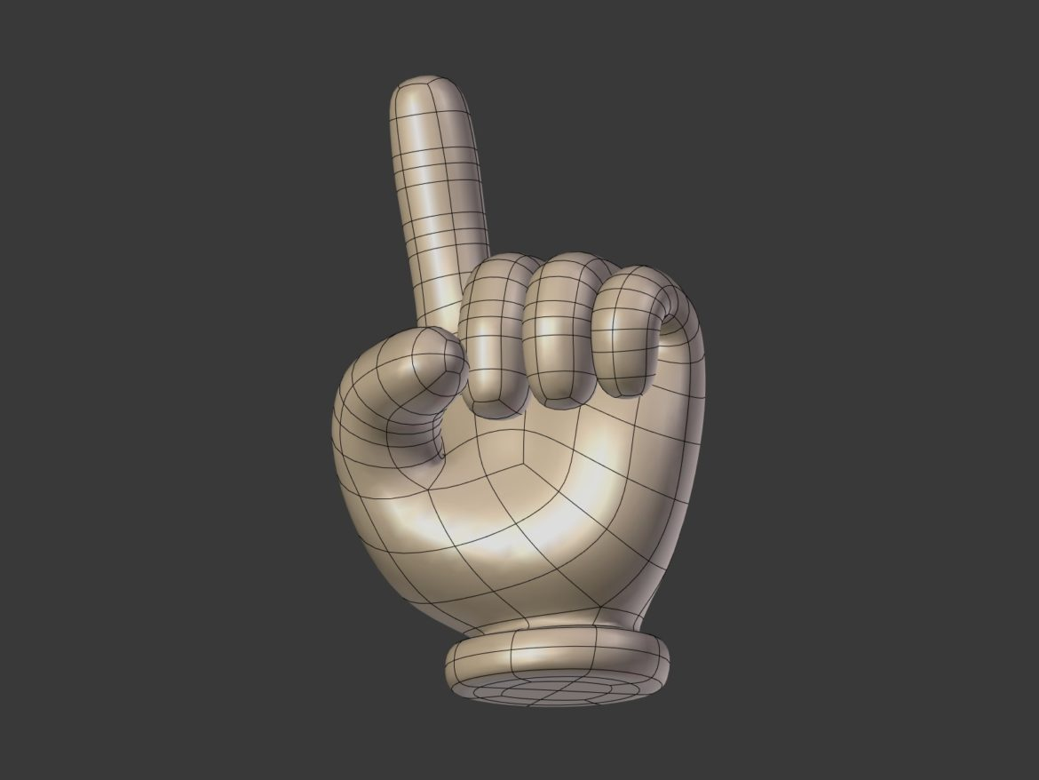 cartoon hand – direction sign 3d model obj fbx blend 305456