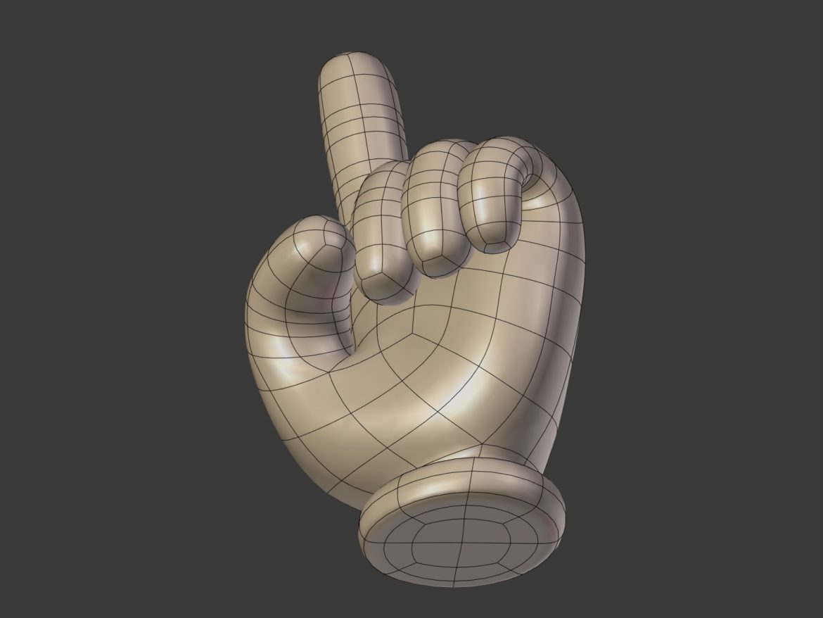 cartoon hand – direction sign 3d model obj fbx blend 305465