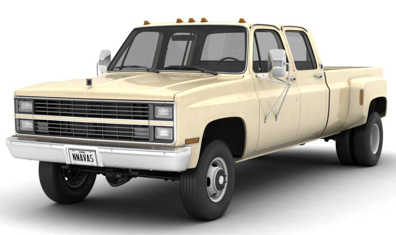 generic 4wd dually pickup truck 6 3d model max fbx 3ds obj jpeg 305482