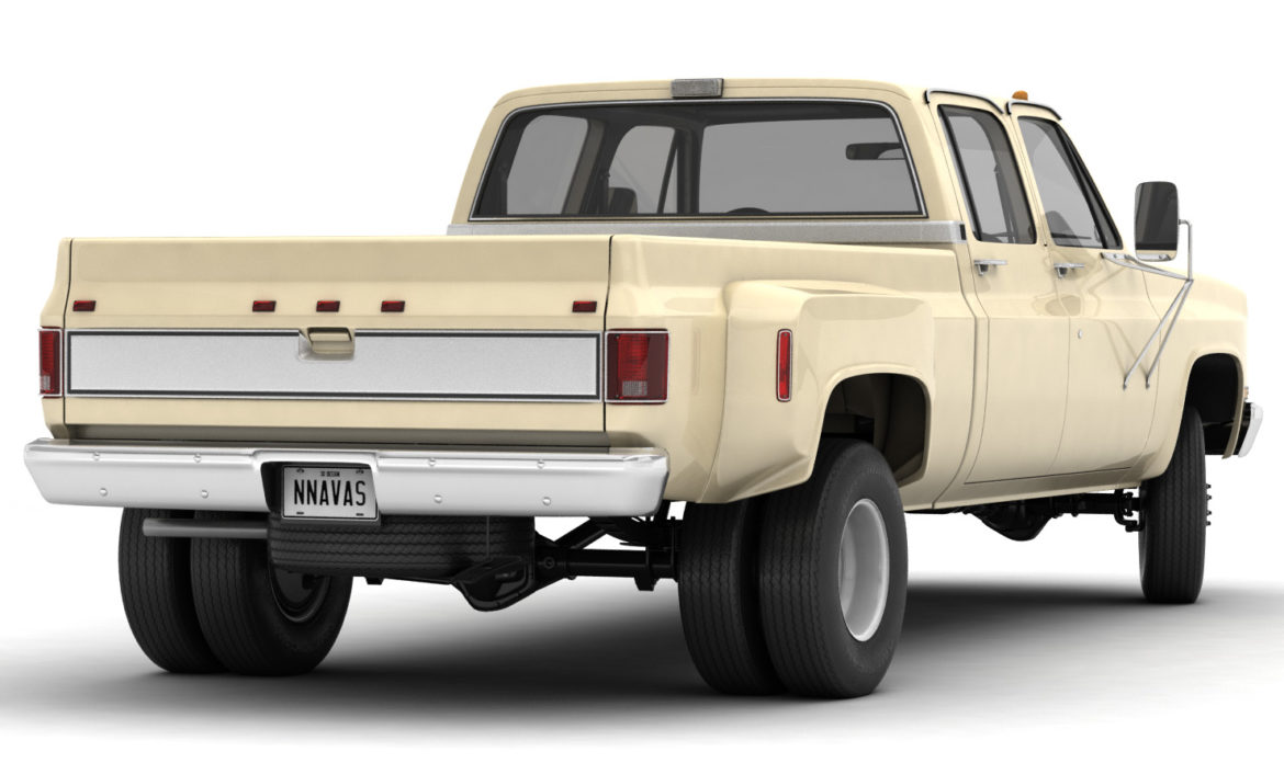generic 4wd dually pickup truck 6 3d model 3ds max fbx blend obj 305483