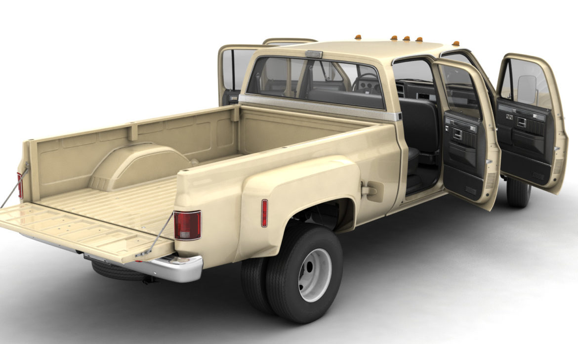 generic 4wd dually pickup truck 6 3d model 3ds max fbx blend obj 305484