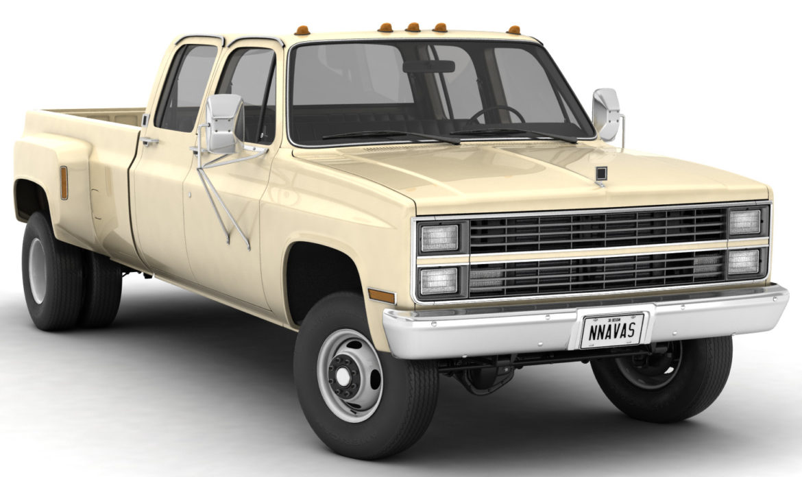 generic 4wd dually pickup truck 6 3d model 3ds max fbx blend obj 305486