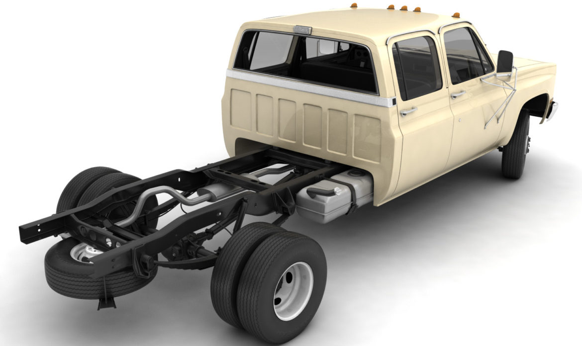 generic 4wd dually pickup truck 6 3d model 3ds max fbx blend obj 305491