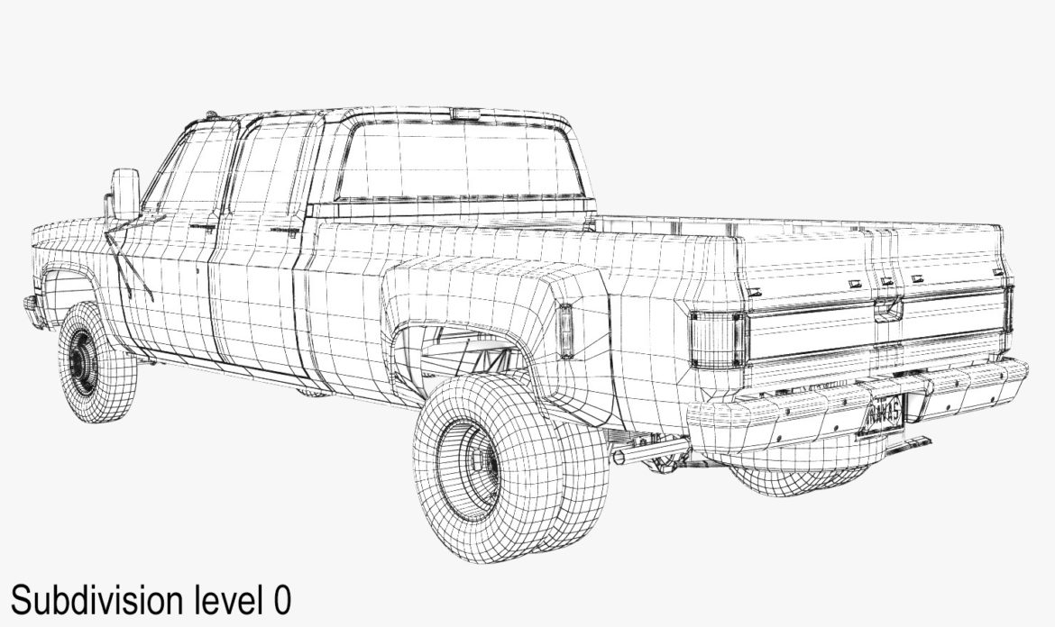 generic 4wd dually pickup truck 6 3d model 3ds max fbx blend obj 305499