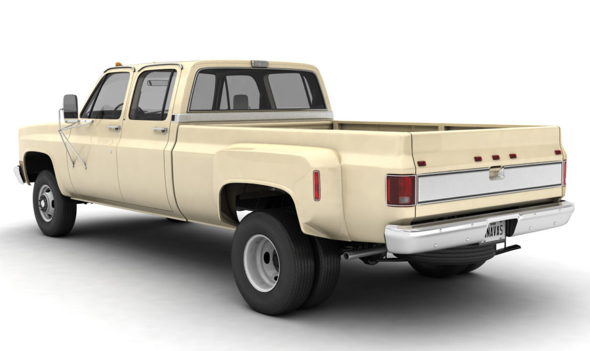 generic 4wd dually pickup truck 6 3d model 3ds max fbx blend obj 305502