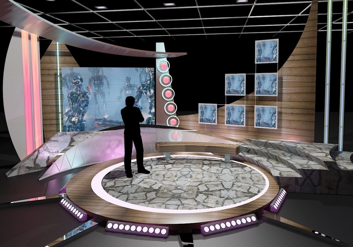 """Virtual sets that are required for any modern show for TV channels. Product Info; – Is a high quality model to add more details and realism to the project. Suitable for 10x10ft (7x7m) physical studio. – Detailed drawings and plans Modeled in Real World Scale. – Post production studios can use the original formats to… <a class=""""continue"""" href=""""https://www.flatpyramid.com/3d-models/architecture-3d-models/scenes/virtual-tv-studio-chat-set-11/"""">Continue Reading<span> Virtual TV Studio Chat Set 11</span></a> <a class=""""continue"""" href=""""https://www.flatpyramid.com/3d-models/architecture-3d-models/scenes/virtual-tv-studio-chat-set-11/"""">Continue Reading<span> Virtual TV Studio Chat Set 11</span></a>"""