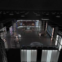 virtual tv studiya xəbərləri 6 3d modeli 3ds c4d dxf fbx max obj 305590