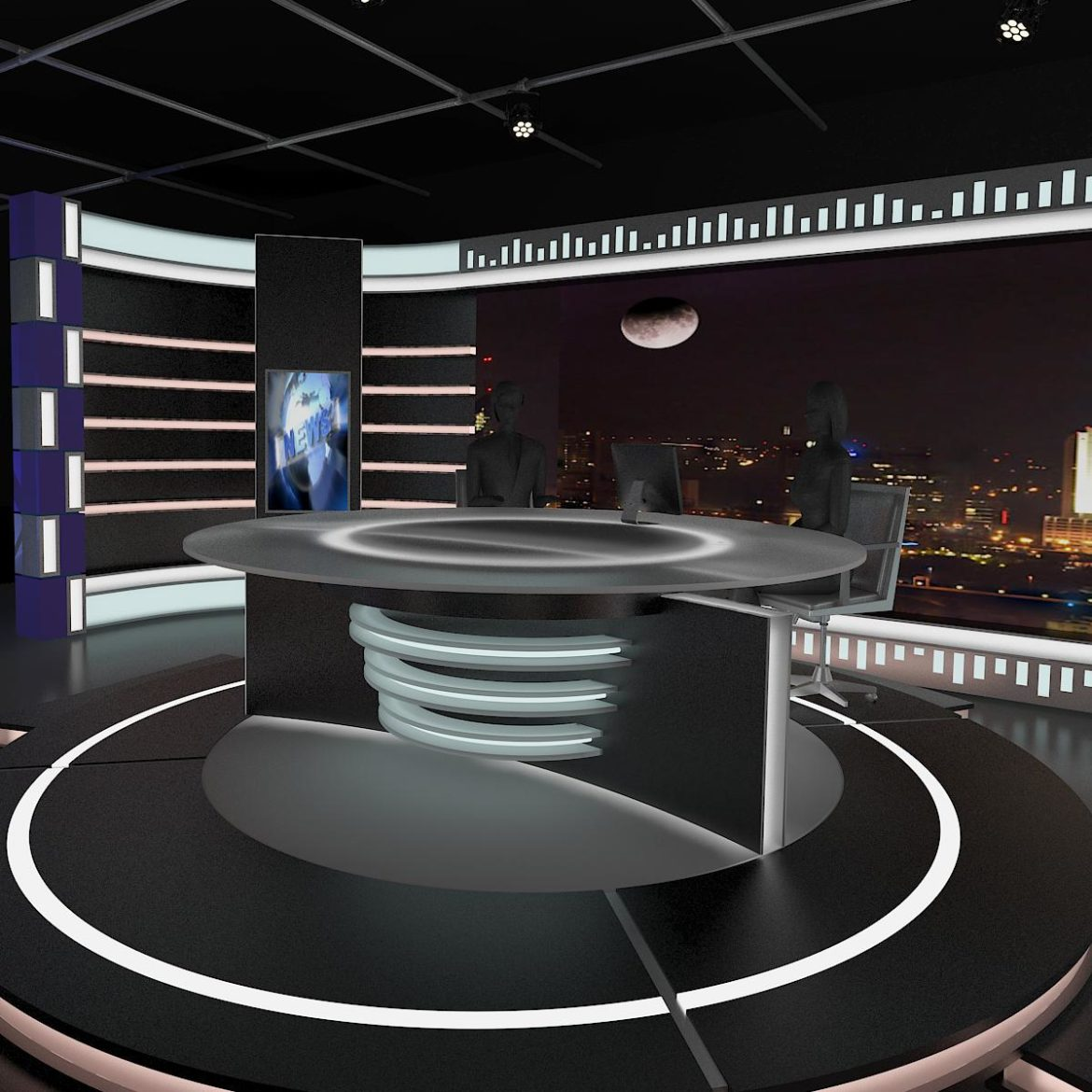 virtual tv studio news set 6 3d model 3ds c4d dxf fbx max obj 305604