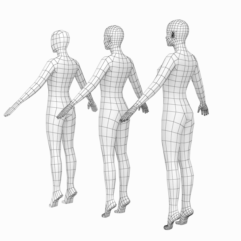 ženski i muški base mesh super snop 3d model txt 3ds c4d dae dwg dxf fbx max ma