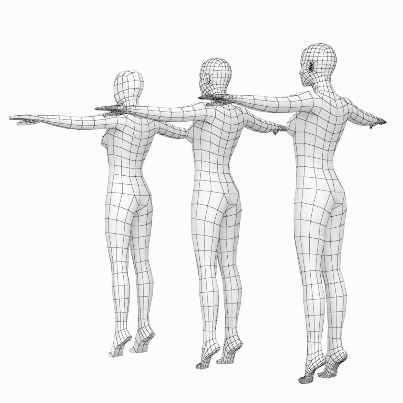 female and male base mesh super bundle 3d model txt 3ds c4d dae dwg dxf fbx max ma mb obj stl png 305752