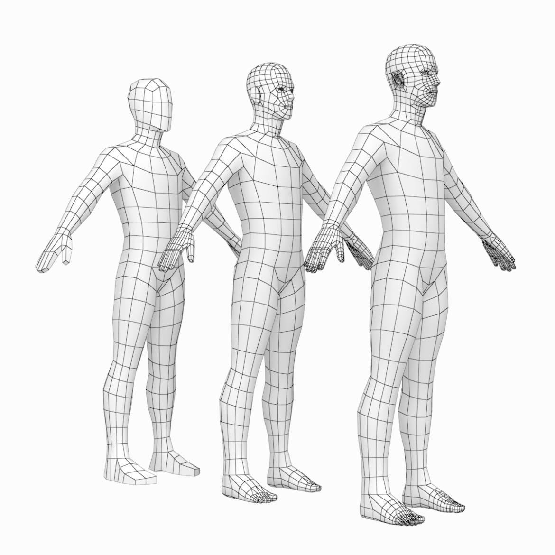 female and male base mesh super bundle 3d model txt 3ds c4d dae dwg dxf fbx max ma mb obj stl png 305753