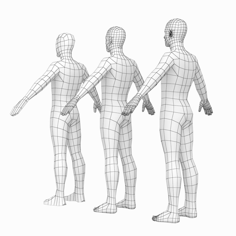 female and male base mesh super bundle 3d model txt 3ds c4d dae dwg dxf fbx max ma mb obj stl png 305754