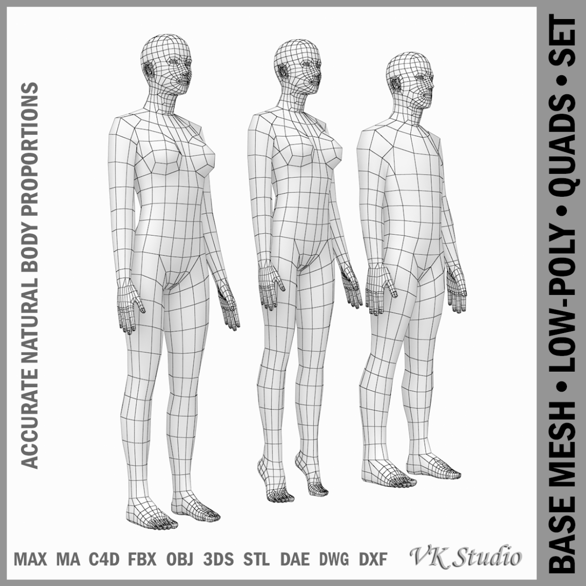 female and male base mesh in rest pose 3d model png c4d dae dwg dxf fbx max ma mb obj stl txt 305798