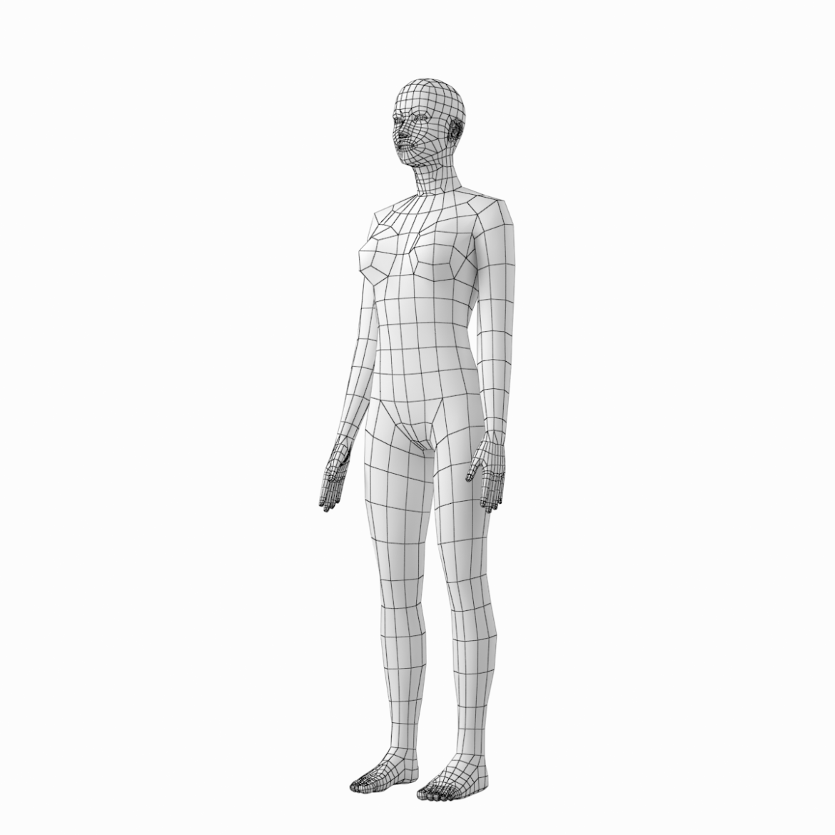 female and male base mesh in rest pose 3d model png c4d dae dwg dxf fbx max ma mb obj stl txt 305805