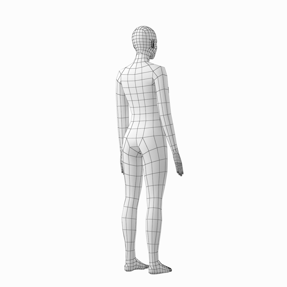 female and male base mesh in rest pose 3d model png c4d dae dwg dxf fbx max ma mb obj stl txt 305806