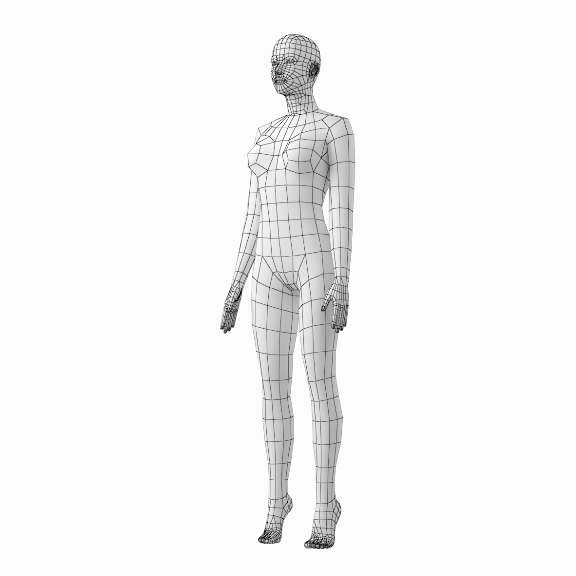 female and male base mesh in rest pose 3d model png c4d dae dwg dxf fbx max ma mb obj stl txt 305807
