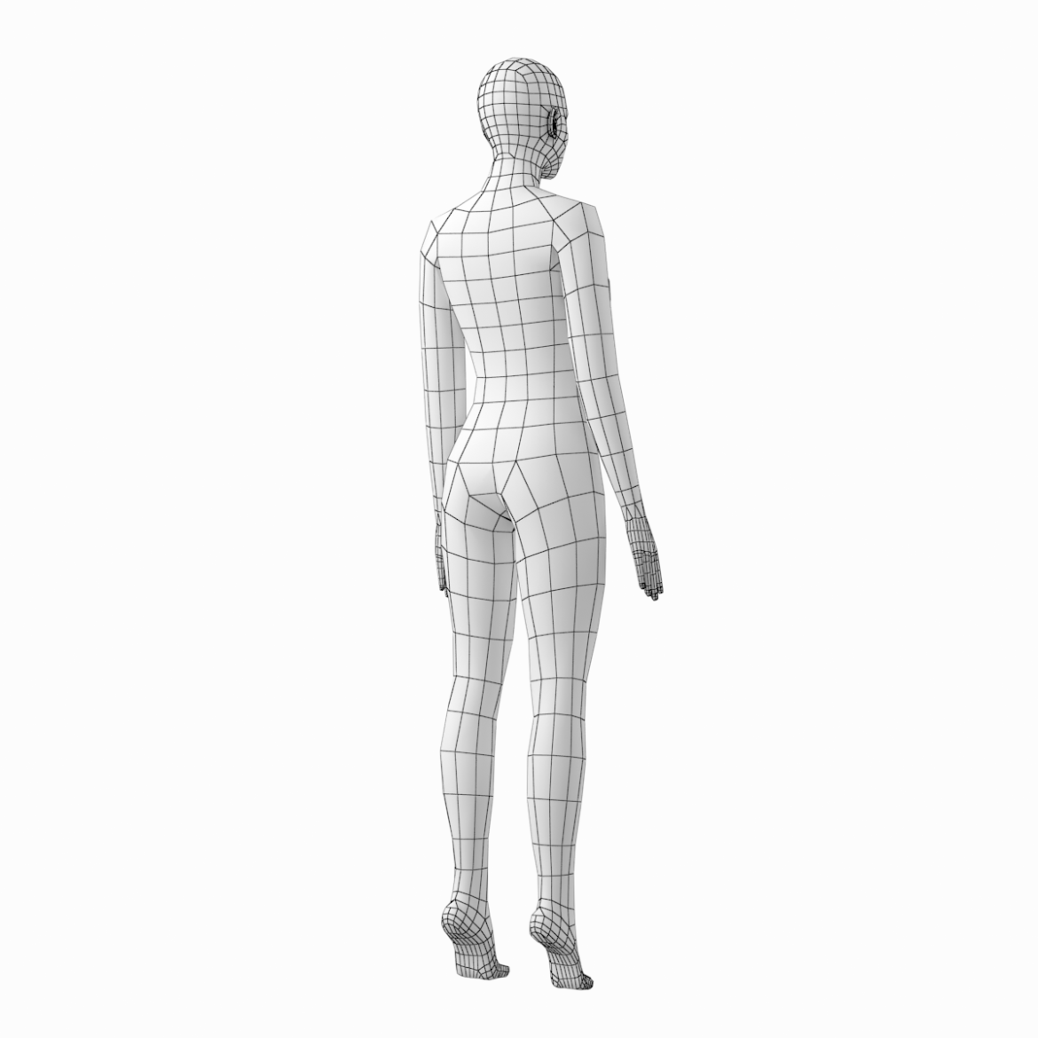 female and male base mesh in rest pose 3d model png c4d dae dwg dxf fbx max ma mb obj stl txt 305808