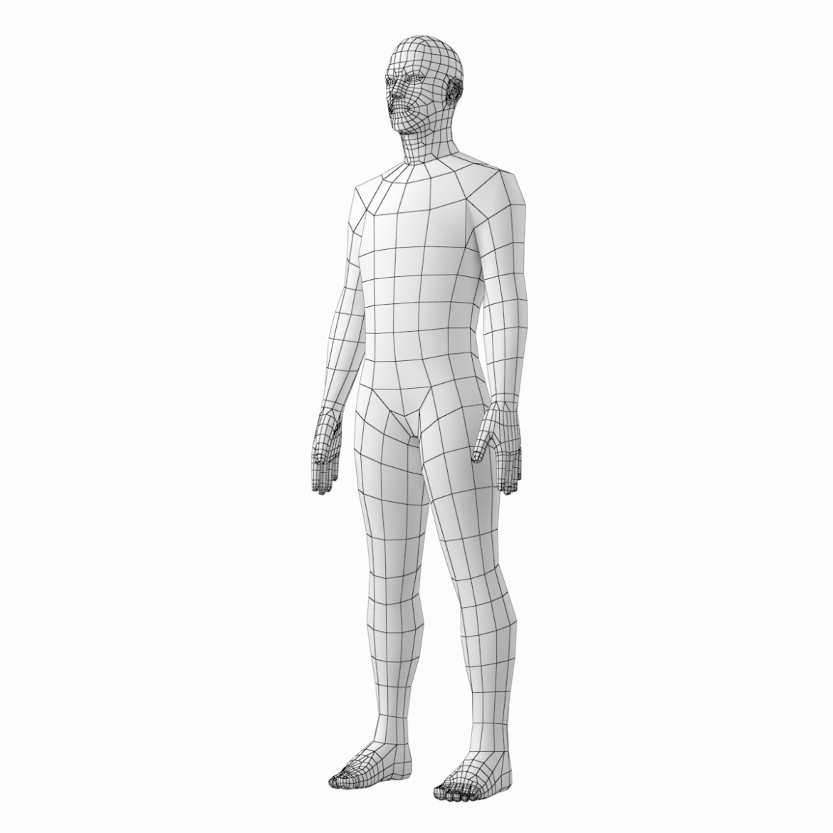 female and male base mesh in rest pose 3d model png c4d dae dwg dxf fbx max ma mb obj stl txt 305809