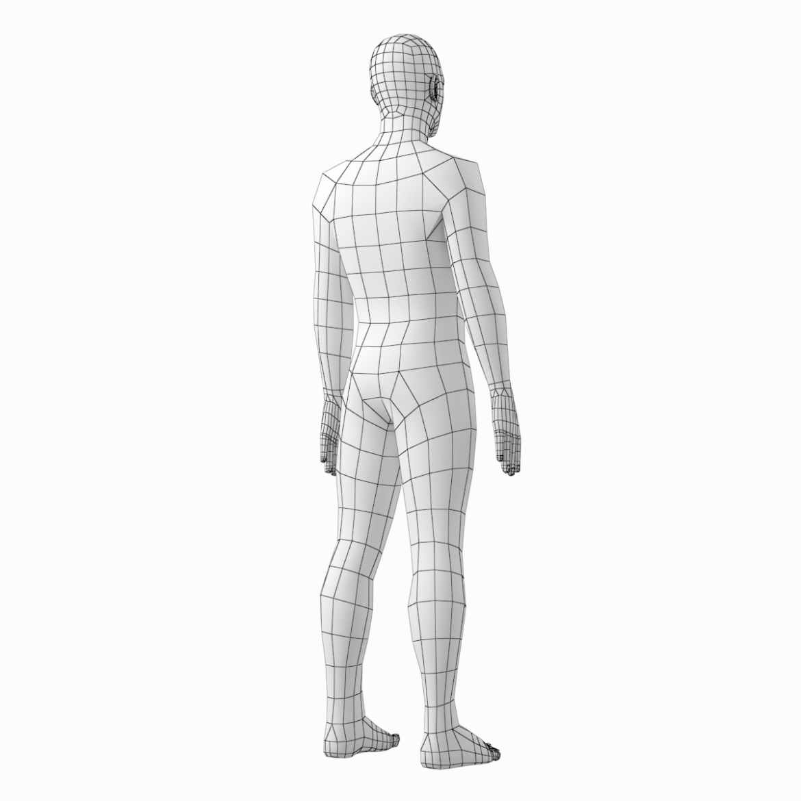 female and male base mesh in rest pose 3d model png c4d dae dwg dxf fbx max ma mb obj stl txt 305810