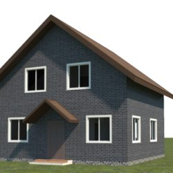 house 8x8 low-poly 3d model max 3ds obj fbx 305964