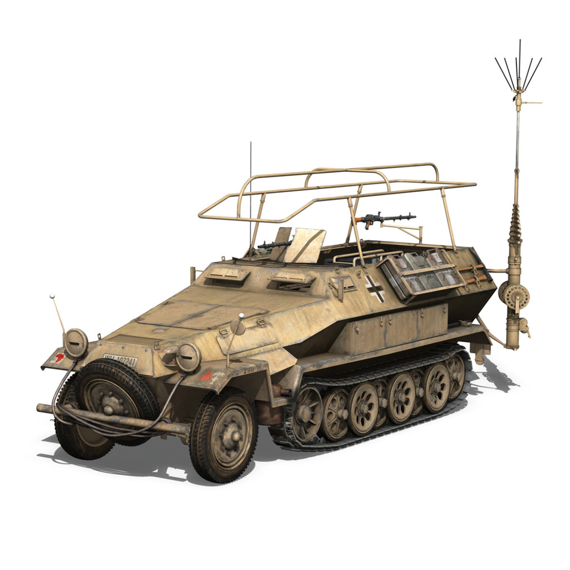 sdkfz 251 ausf.b – communications vehicle – 15pd 3d model 3ds fbx lwo lw lws obj c4d 305986