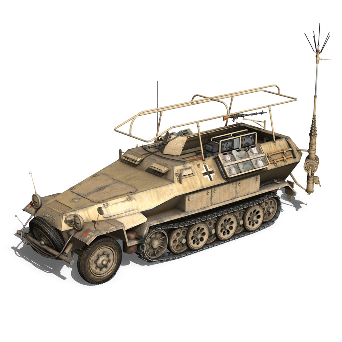 sdkfz 251 ausf.b – communications vehicle – 15pd 3d model 3ds fbx lwo lw lws obj c4d 305987
