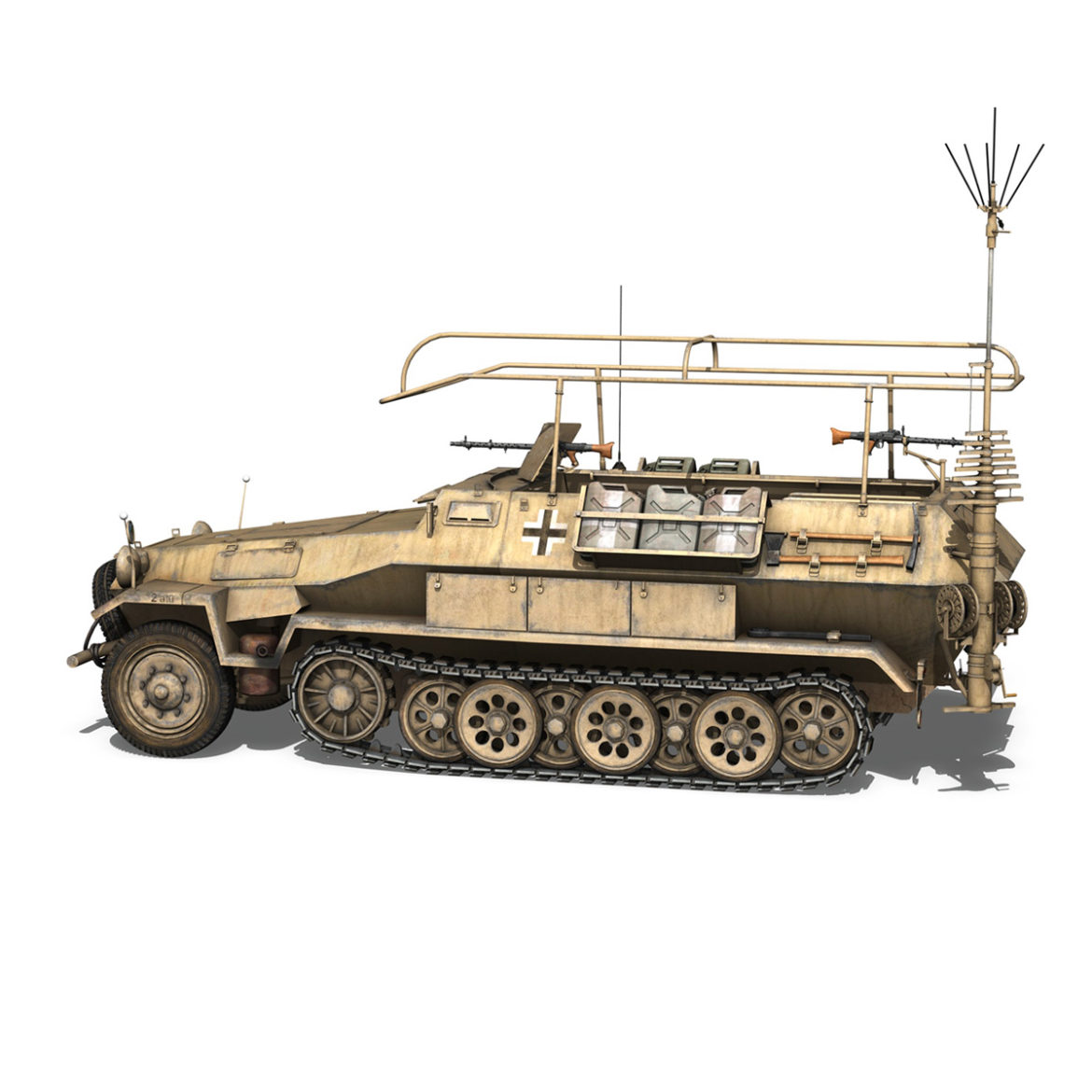 sdkfz 251 ausf.b – communications vehicle – 15pd 3d model 3ds fbx lwo lw lws obj c4d 305988