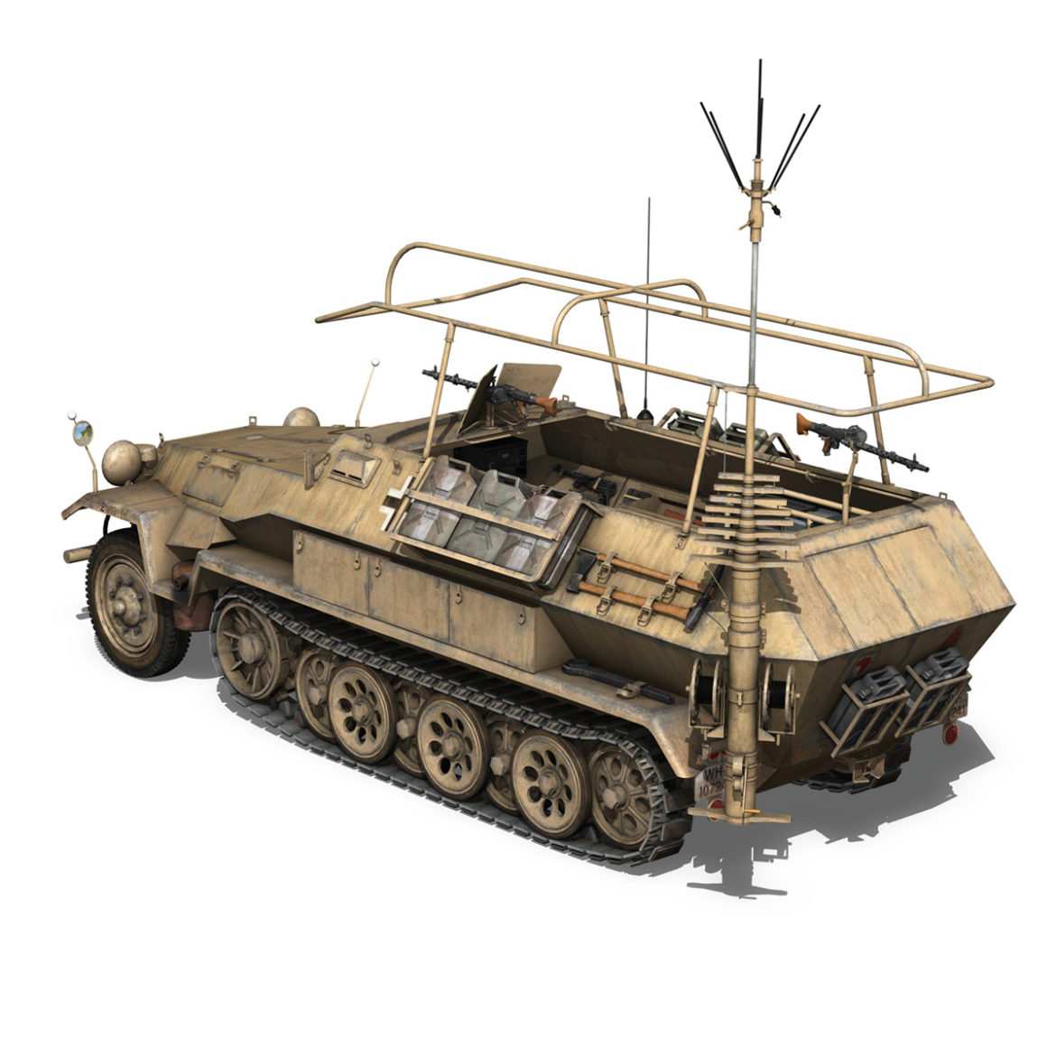 sdkfz 251 ausf.b – communications vehicle – 15pd 3d model 3ds fbx lwo lw lws obj c4d 305989
