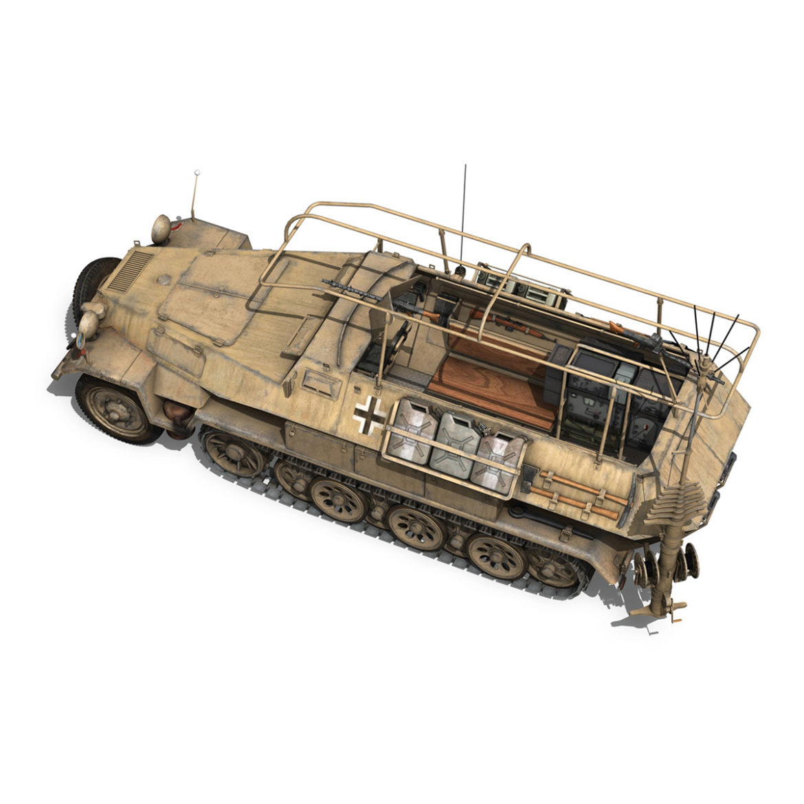 sdkfz 251 ausf.b – communications vehicle – 15pd 3d model 3ds fbx lwo lw lws obj c4d 305990