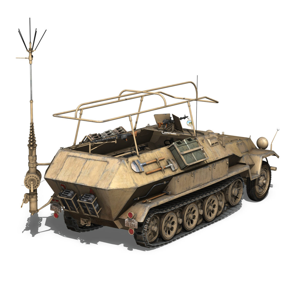 sdkfz 251 ausf.b – communications vehicle – 15pd 3d model 3ds fbx lwo lw lws obj c4d 305991