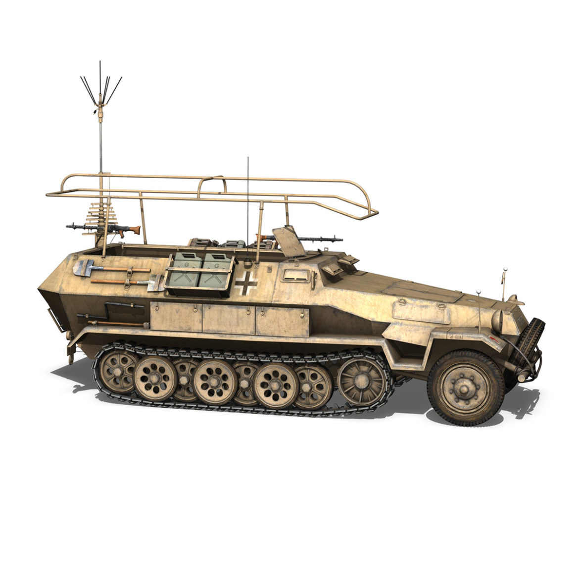 sdkfz 251 ausf.b – communications vehicle – 15pd 3d model 3ds fbx lwo lw lws obj c4d 305992