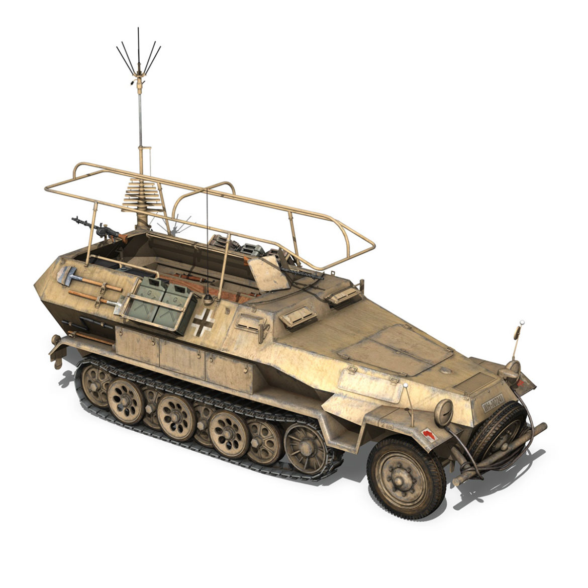 sdkfz 251 ausf.b – communications vehicle – 15pd 3d model 3ds fbx lwo lw lws obj c4d 305993