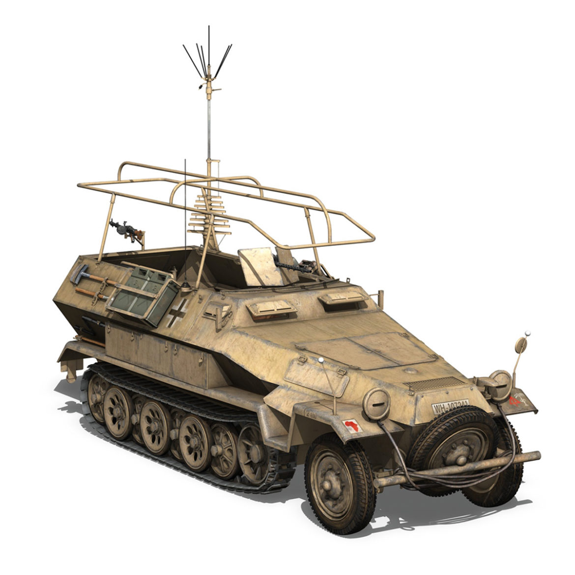 sdkfz 251 ausf.b – communications vehicle – 15pd 3d model 3ds fbx lwo lw lws obj c4d 305994