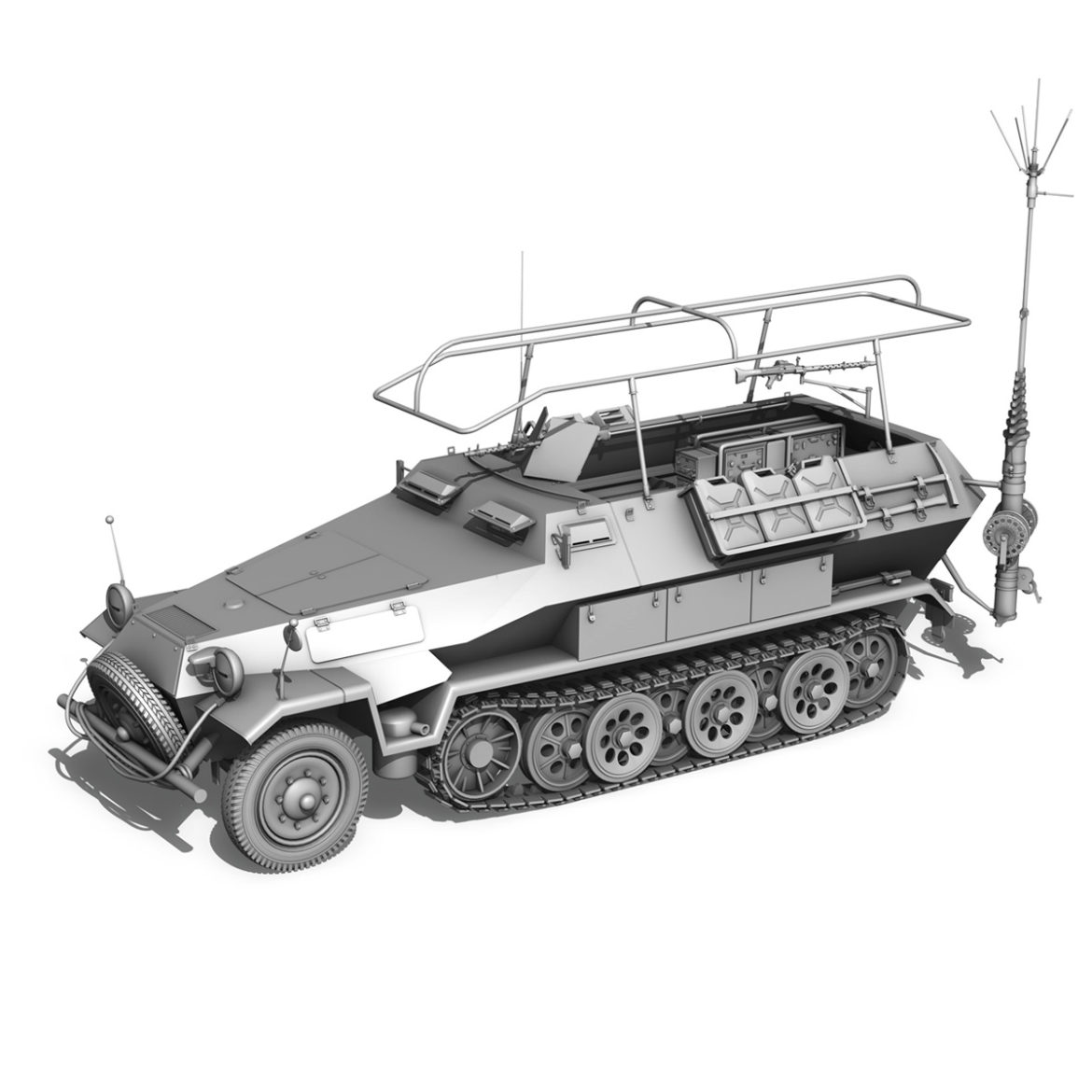 sdkfz 251 ausf.b – communications vehicle – 15pd 3d model 3ds fbx lwo lw lws obj c4d 305996