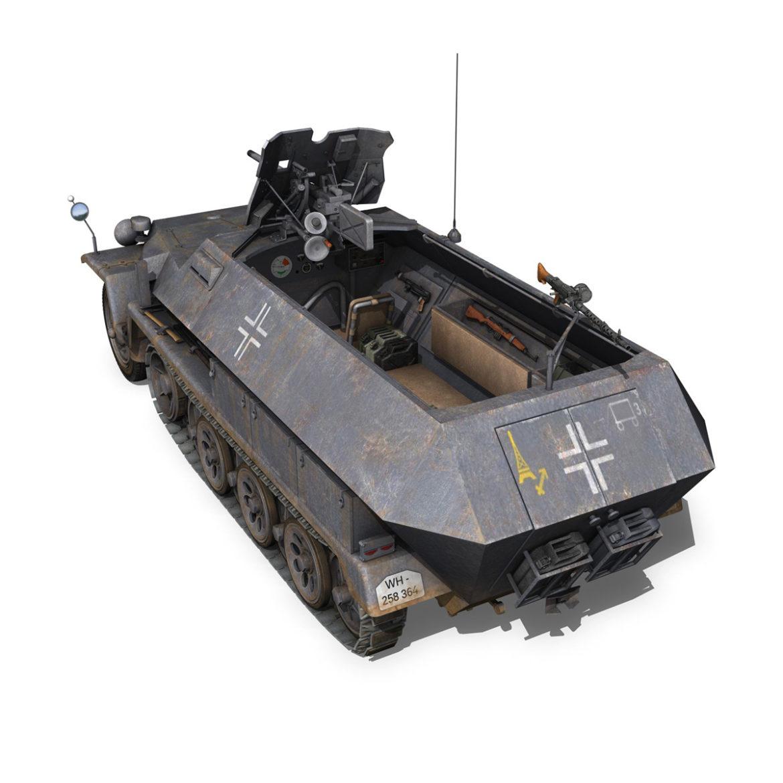 sdkfz 251 ausf.c – hanomag half-track – 23pd 3d model 3ds fbx lwo lw lws obj c4d 306008