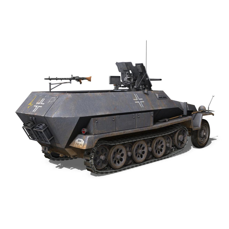 sdkfz 251 ausf.c – hanomag half-track – 23pd 3d model 3ds fbx lwo lw lws obj c4d 306009