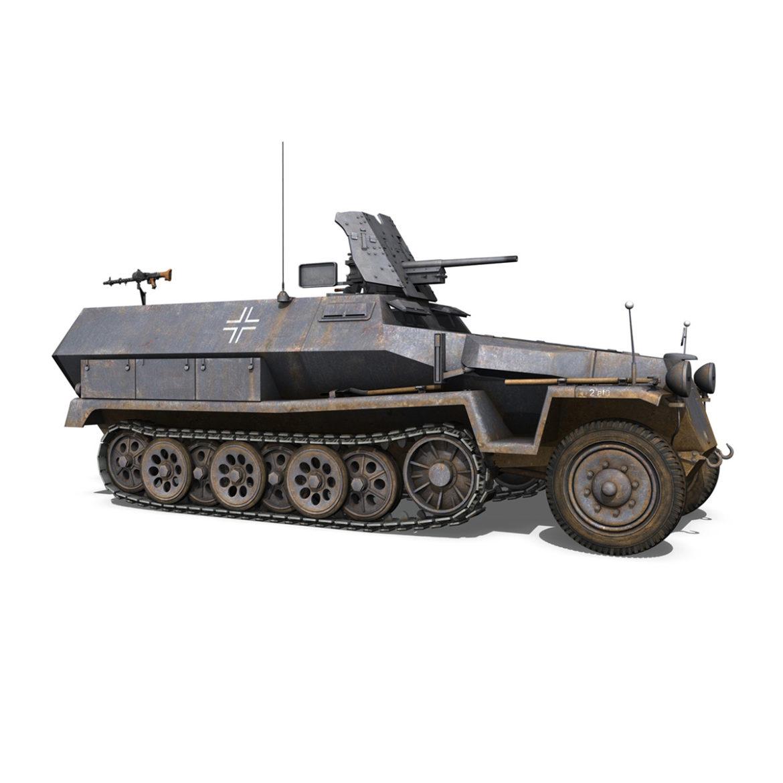 sdkfz 251 ausf.c – hanomag half-track – 23pd 3d model 3ds fbx lwo lw lws obj c4d 306011