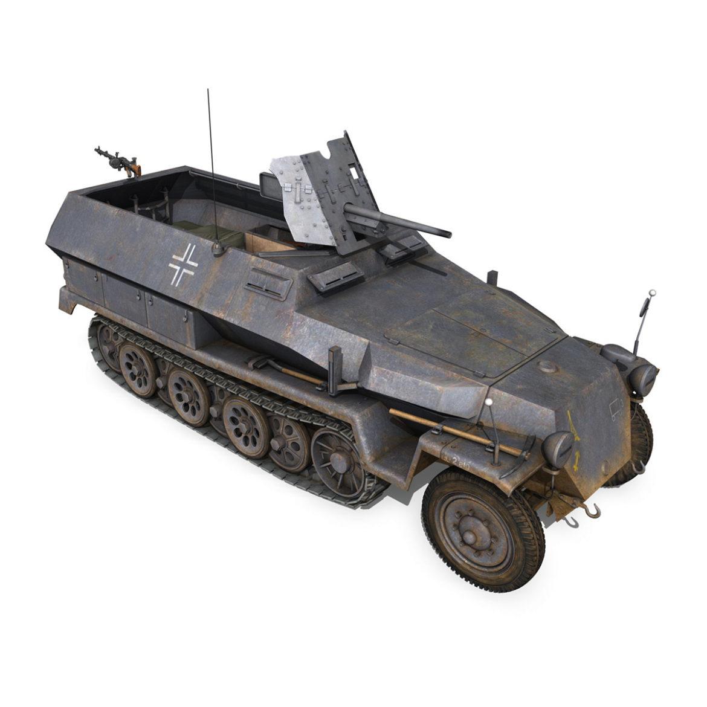 sdkfz 251 ausf.c – hanomag half-track – 23pd 3d model 3ds fbx lwo lw lws obj c4d 306012